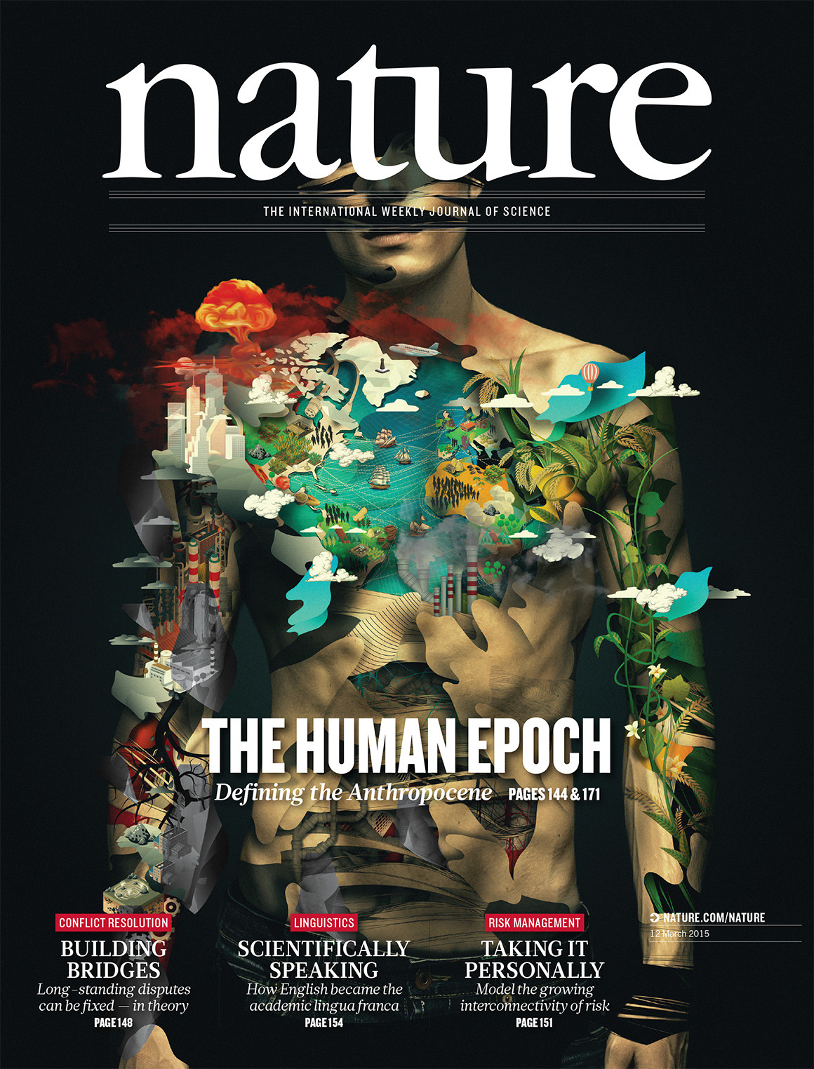 nature anthropocene epoch human seveso alberto illustration journal science magazine covers mark maslin african building graphics defining paper staff academic